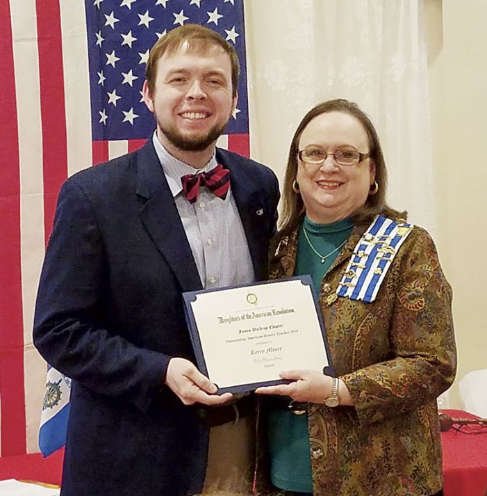 Whitewater's Moore wins DAR history teacher award
