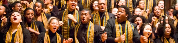 Kuumba Singers of Harvard College are appearing in Fayetteville next Monday