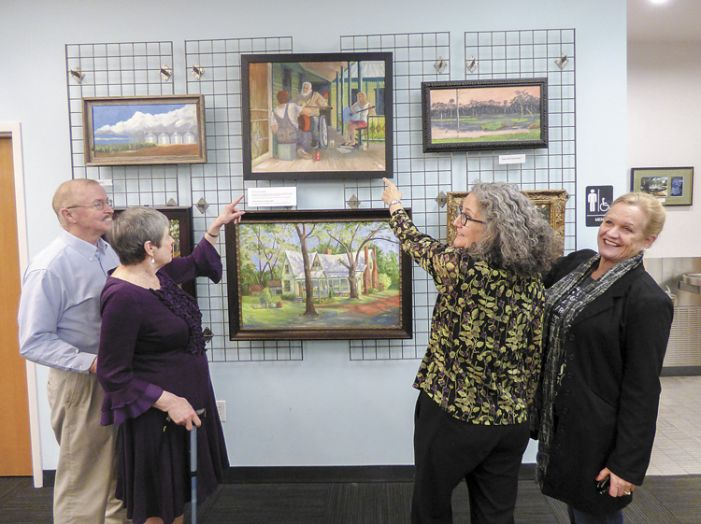 Kathleen Brewer displays paintings based on favorite books