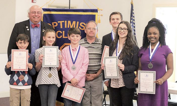 Optimists honor orators