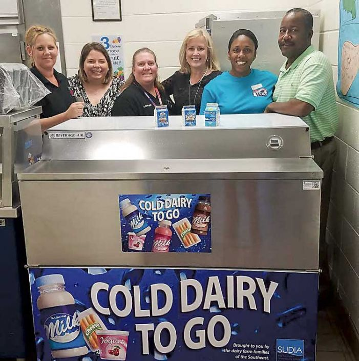Burch Elementary gets grant for new milk cooler