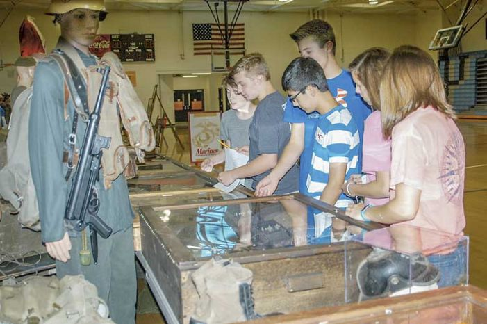 Traveling military museum educates students at Rising Starr Middle School