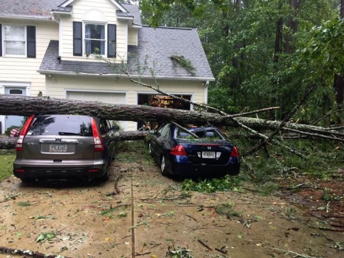 High winds Monday leave obstacles Tuesday in Fayette