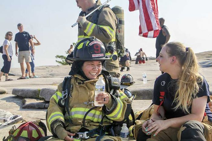 Fayetteville firefighters climb Stone Mountain in full gear to honor 9-11 heroes