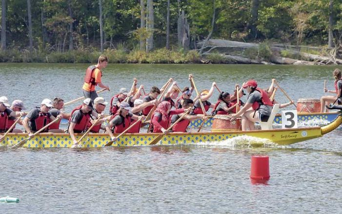 Dragon boats fill Lake McIntosh