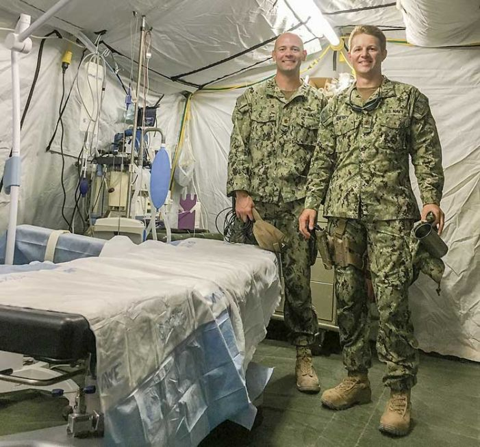 One-time McIntosh classmates meet again in Iraq surgical unit