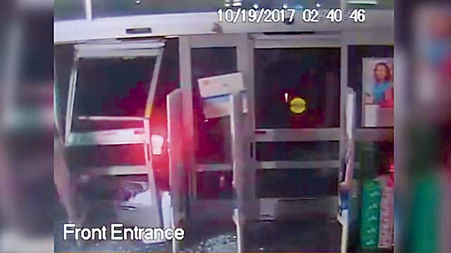 Smash-and-grab thieves hit 10 vehicles, would-be robber scrams