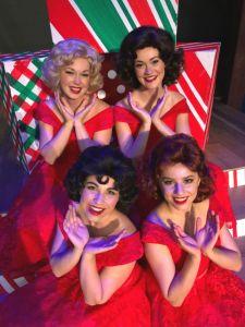 A Taffeta Christmas at The Legacy Theatre stars stars Kristina Bryan (Beauty & the Beast), Stephanie Earle, Kristina Kastrinelis, and Kaitlyn Sage.