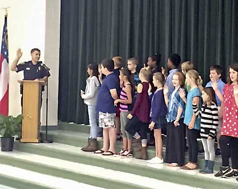 Crabapple Lane safety patrols inducted