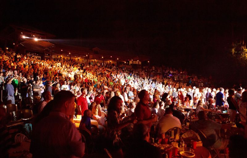 A concert crowd at The Fred in Peachtree City. Photo/The Fred Brown Amphitheater.