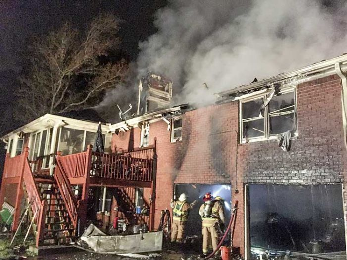Basement fish fryer catches on fire, destroys north Fayette home Sunday