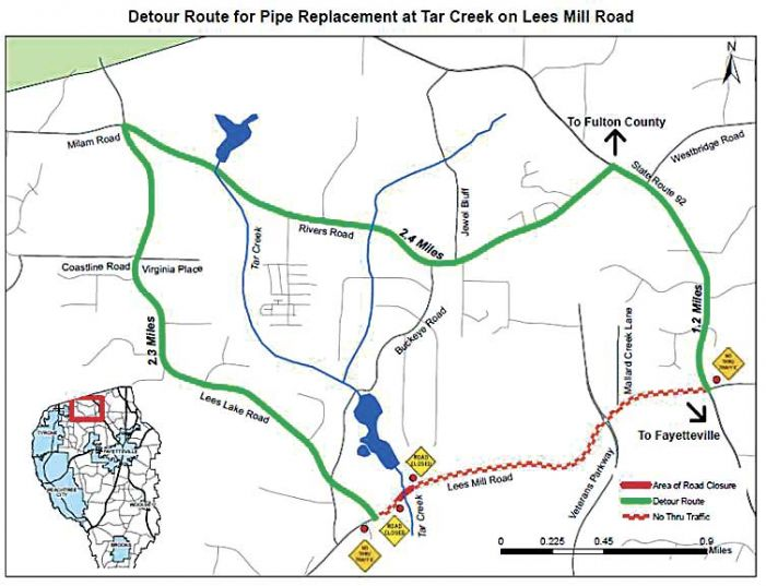 Lee's Mill Road to reopen by Thanksgiving