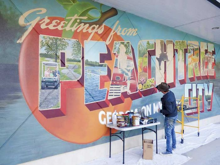 With mural, The Avenue points toward becoming Peachtree City's Main Street
