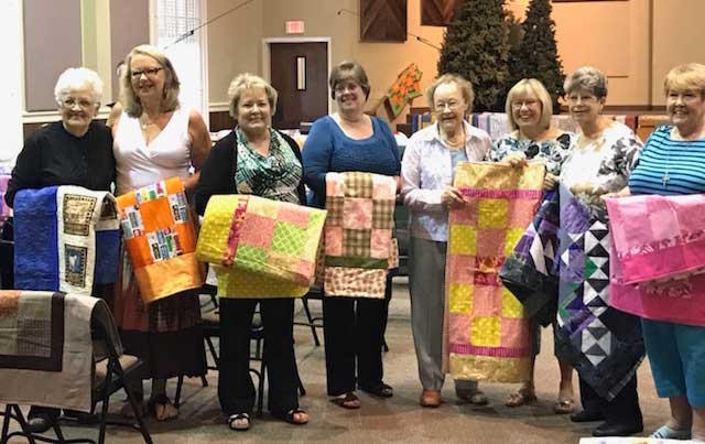 Evergreen Church holds annual quilt blessing