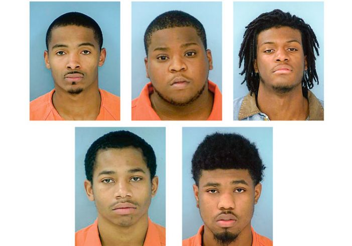 Five men arrested for burglarizing store twice in a week