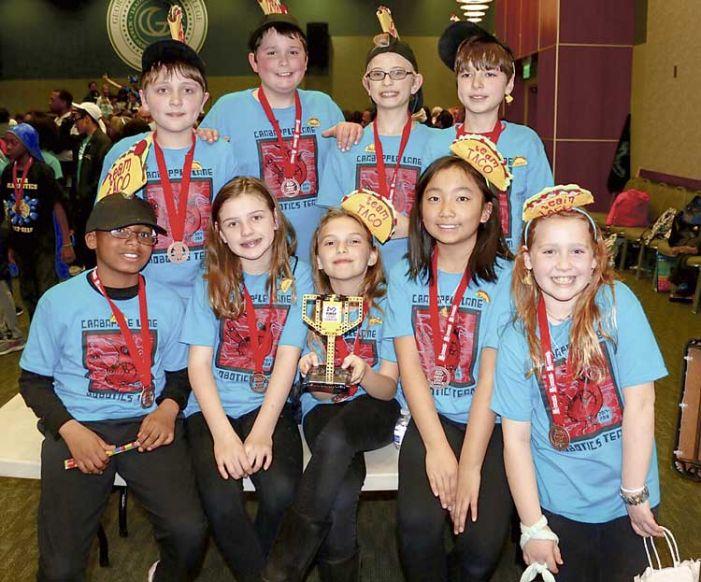 Crabapple Lane Elementary's TACO kids win robotics award