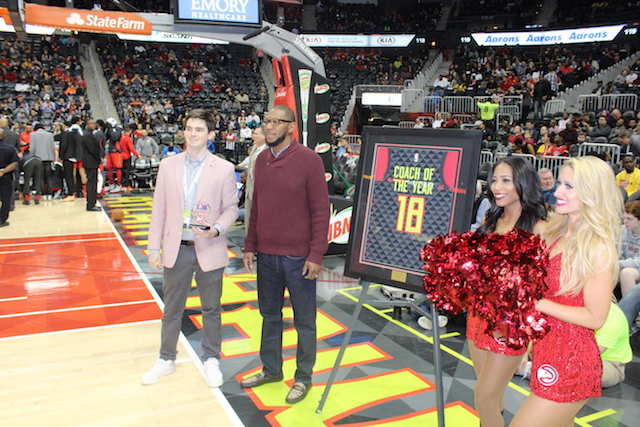 Local coach honored by Hawks, NBA