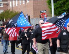 Large law enforcement presence overshadows neo-Nazi rally in Newnan