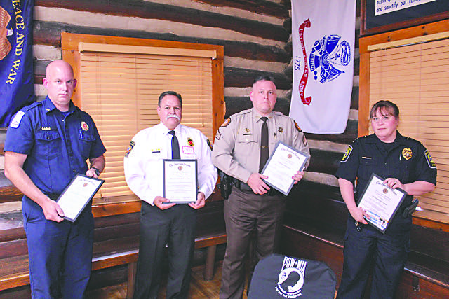 Fayetteville American Legion post honors first responders