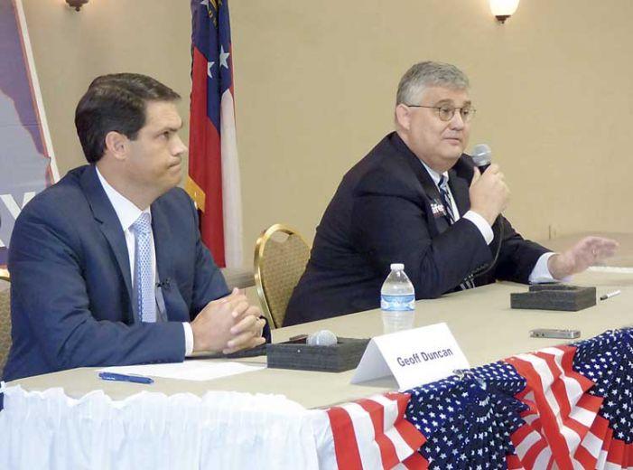 2 of 3 lieutenant governor candidates speak at Fayette forum