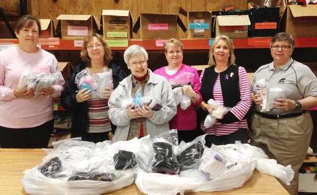 Hopewell collects socks for charity
