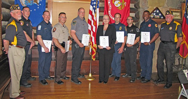 American Legion honors public safety workers