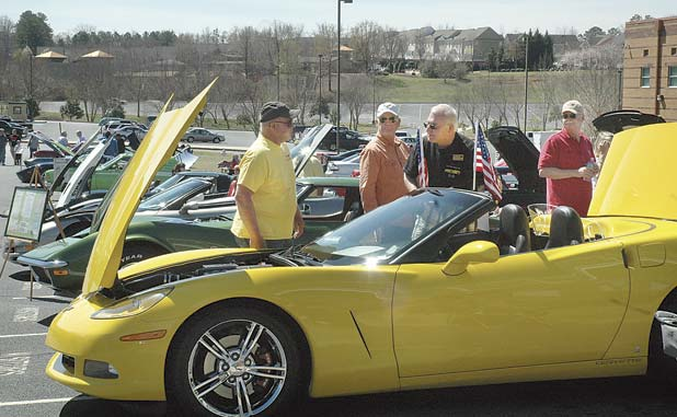 Car buffs and Corvettes in the springtime