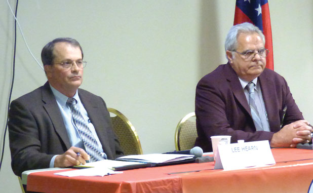 Ognio, Hearn trade budget criticisms in District 2 forum