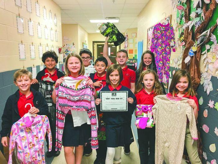 Coweta Charter Academy students gather pajamas, food for needy kids