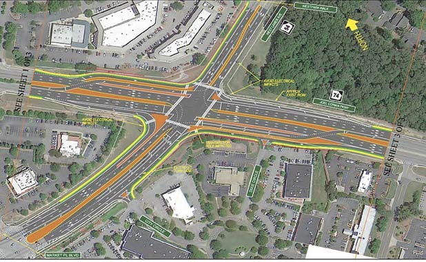 Peachtree City's Hwys. 54-74 intersection to be reconstructed in 2020