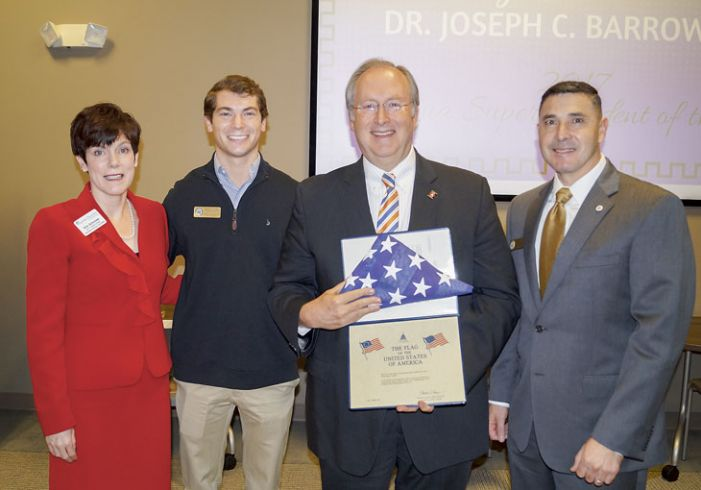 Fayette Chamber honors Superintendent Dr. Joseph C. Barrow