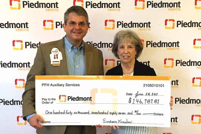 Piedmont Fayette Auxiliary presents gift to the hospital