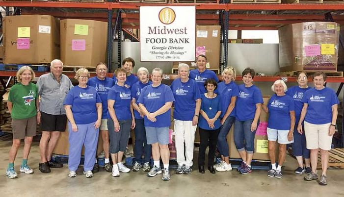 Packaging food for the needy
