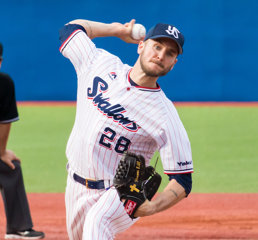 On the mound in Japan
