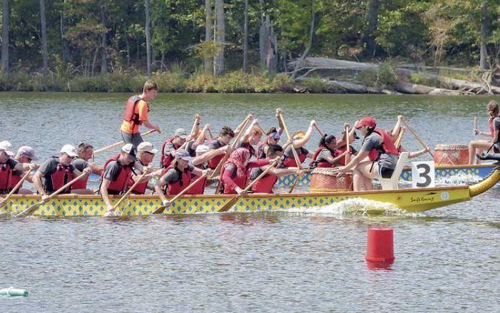 Dragon boats fill Lake McIntosh