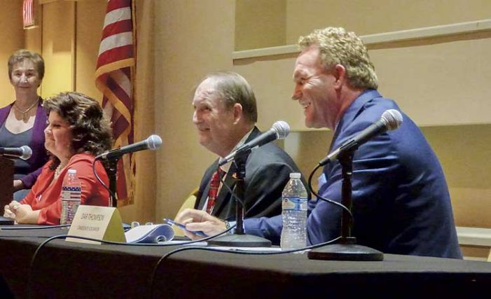 Residents quiz candidates for PTC Council at Rotary Club forum