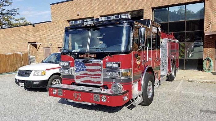 Fayetteville's new fire engine arrives for duty