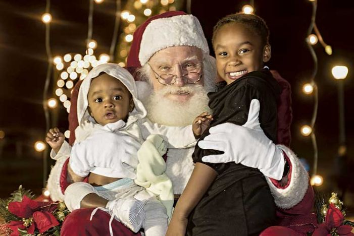 Santa stops by Tyrone