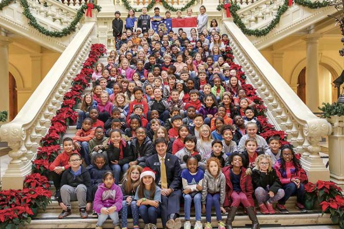 Senator Matt Brass takes 3rd-graders on Capitol tour