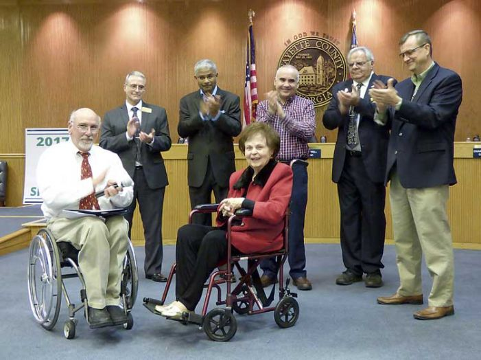 Board honors Fayette's first woman county commissioner