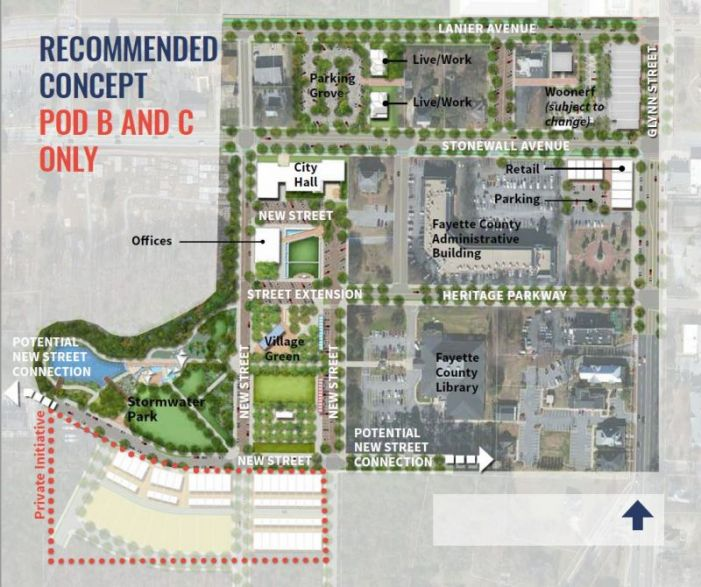 Fayetteville buys school board property, city hall planned for first phase of development