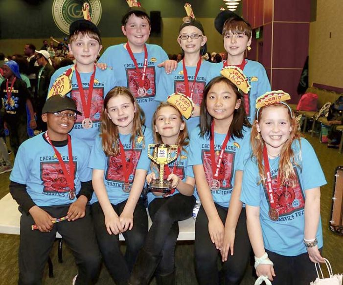 Crabapple Lane Elementary's TACO kids win robotics award