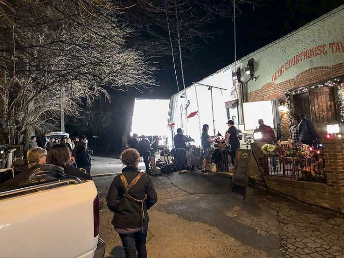 Filming horror off the square in Fayetteville