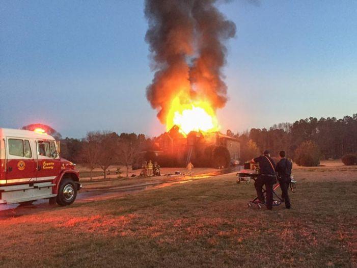 Fayette firefighters on Feb. 21 battle two blazes
