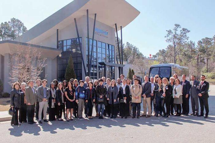 International visitors come to PTC company
