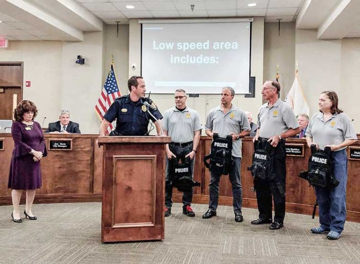28 protective vests donated to PTC Police by Auxiliary