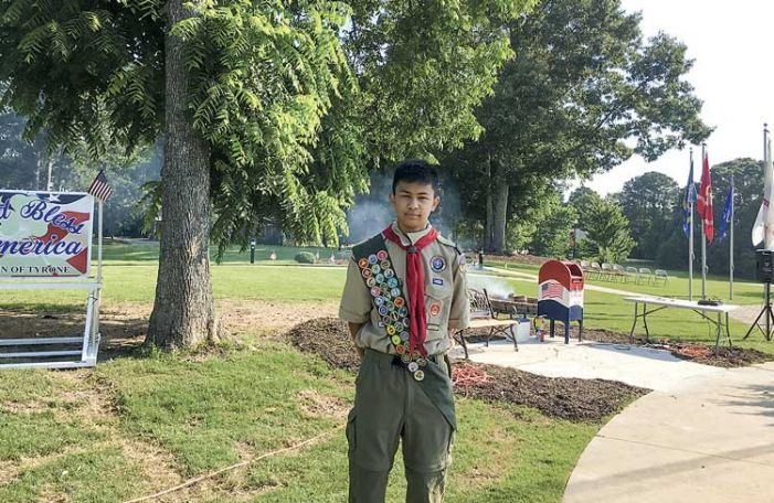 Eagle Scout project in Tyrone honors veterans