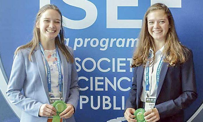 McIntosh's Van Zyl sisters win top award at International Science & Engineering Fair