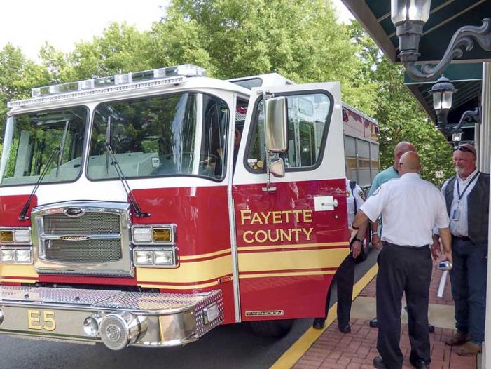 A new fire truck for the county