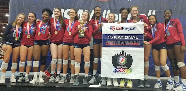 Local volleyball squad wins national title